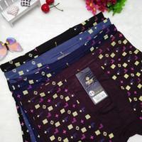Wholesale Hot Sales New Mens Underwear Boxer Male Cotton Stretch Soft Elastic Middle Waist Cueca Boxers Panties Shorts