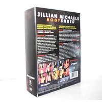 Wholesale Jillian Michaels Bodyshred DVDs Fitness Workout Rotational Calendar Meal Plan Fitness Guide US DHL