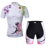 Wholesale Summer Women s Cycling Short Sleeve Jersey Shorts Sets Breathable Bicycle Clothing Suit Bike Riding Pants S XL