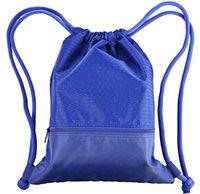 athletic drawstring bags - Unisex Outdoor Sports Backpacks Athletic Basketball Football Plain Nylon Bags Swimming Water Resistant Drawstring Packs Designer