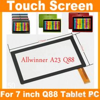 Wholesale 50pcs quot inch Capacitive Touch Screen Digitizer Panel Replacement for inch Allwinner A13 A23 A33 Q8 Q88 JF A7