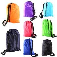 Wholesale 2016 outdoor Rapid inflatable portable air beach bed Camping Sofa banana Sleeping Bag beanbag sleeping bag