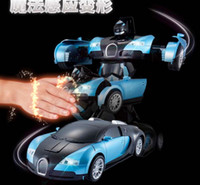 Wholesale 2016 Christmas Gift Transformer Toy Models Changeable Robot For Child New Hand Sensible Control Smart Robot Toy with retail package