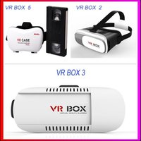 Wholesale Virtual Reality D VR Glasses Plastic Google Cardboard D VR BOX Adjustable D VR Glasses Headset with Gamepad