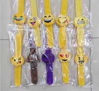Wholesale New QQ Emoji Smiley Pillows Slap Snap Bracelets Magic bracelet Christmas Gift style