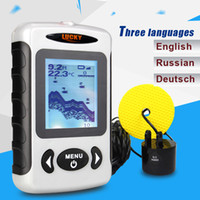 Wholesale LUCKY FF718 Russian Menu Top Quality Fish Finder Portable Sonar Wired Fish depth Finder Alarm M Fishing Tackle