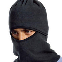 Wholesale winter unisex Multifunctional fleece hat riding mask scarf hedging hats thickened skiing bibs