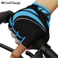 Wholesale Coolchange Fashion style outdoor professional Road Bike Bicycle Half Finger Cycling Gloves for Men sport glove colors
