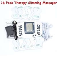 Wholesale TENS Body Healthy care Digital meridian therapy massager machine Slim Slimming Muscle Relax Fat Burner pain new pads massage