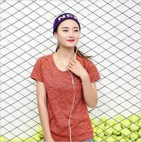 Wholesale Fashion women fited U neck t shirt sports yoga wear gymwear seamless short sleeve t shirt various colors and sizes