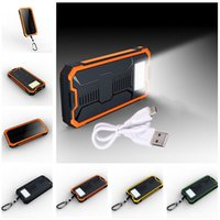 Wholesale 12000mAh Solar Power Bank Dual USB Portable External Battery Charger For Mobile