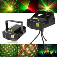 Wholesale XL S D06 Mini Voice Automatic Control R G Laser Lights Lighting Projector Disco DJ Stage Xmas Party Show Club Star Bar Tripod