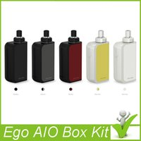 bf white - Original Joyetech eGo Aio Box Mod Kit mAh Battery Box with ml Atomizer use BF SS316 ohm MTL Core VS Evic Basic