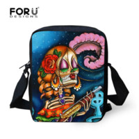 Wholesale Hot vintage women messenger bags punk skull small crossbody bag for ladies mini canvas bag for women bolsos carteras mujer marca