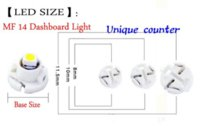 Wholesale 20pcs T3 T4 T4 SMD LED SMD Car Cluster Gauges Dashboard LED Indicator light bulbs White Red Blue Yellow V
