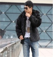 Wholesale Fall Rushed Long Ceket Hot Sale Mens Winter Warm Anti Stance Of Animal Rights Fux Coat Parka Luxury High Quality Excellent Solid
