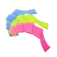 Wholesale Soft Silicone Swimming Fins Flippers pair Frog Hand Swim Web Webbed Glove Training Paddle Dive Swimming Equipment Multi Size