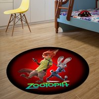 Wholesale Fashion cm Superman Zootopia Round Floor Mats for Bedroom Living Room Carpet Rugs Entrance Doormats