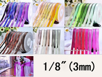 Wholesale IuBuFiGo quot Double Face Satin Ribbon mm DIY Hair bow Taoe yard rollr Cheaper