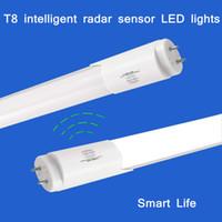 Wholesale t8 ft tube LED Tube W V microwave radar sensors of human infrared sensor lamp induction fluorescent tubes Garage