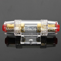 Wholesale 8 Gauge AGU Car Stereo Fuse Holder With Amp Fuse Nickel Plated Finish