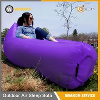 Wholesale Fast Inflatable Sleeping Bag Seconds Quick Open Lazy Sleeping Bed Folding Sofa Beach Sleep Bed Outdoor Camping Air Sleep Sofa