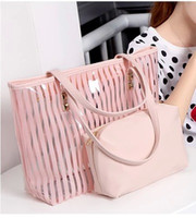 beach totes cheap - Cheap Handbags Lady Tote Bags Summer Beach Bags Transparent Bag In Bag PC