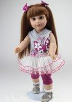 Wholesale The Cutest Fashion Lifelike Reborn Baby Dolls Inch American Girl Doll Play Toy Eco friendly Bathing DIY Doll Cheapest Doll