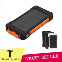 Wholesale hot universal solar power bank mAh USB battery charger support iPhone6 Samsung Android cellphone External Backup power chargers