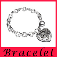 american list - The new listing creative fashion jewelry selling silver bracelet stereo heart thick silver bracelet
