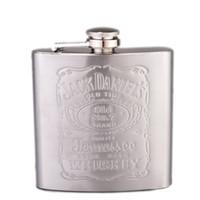 Wholesale Hot sell Johnnie Walker oz Stainless Steel Hip Flask Drinkware Whiskey Liquor Metal Flask Alcohol Flask Flagon marmita wiskey JackDaniel s