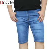 big mens stretch jeans - Drizzte Mens Brands Plus Size Stretch Big Large Denim Jeans Blue Short Jeans Man Male Dark Light Blue