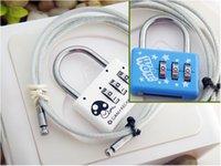 Wholesale Travel goods must travel lock Printed Mini Luggage Lock Luggage Lock multicolor rope