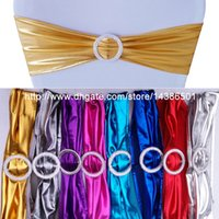 Wholesale Hot Sale Gilding Shining Spandex Bands Lycra Bands With Round Buckle For Wedding Banquet