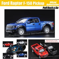 Wholesale 1 Scale Alloy Metal Diecast Car Model For Ford Raptor F Pickup Collection Model Pull Back Toys Car Blue Black Red White