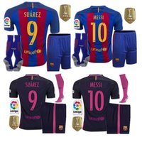 Wholesale Best selling Barcelona kit jerseys Socks MESSI ARDA A INIESTA SUAREZ SERGIO PIQUE I RAKITIC NEYMAR JR home and away