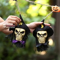bar room accessories - Halloween costumes Cover with cloth skulls string Bar rooms decoration items Halloween accessories products