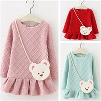bag long coat - Girls Kids Clothing Clothes Spring Autumn Rhombus Long Sleeve Coat with Bag Warm Outfits Children Clothing Colors