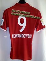 Wholesale top jerseys season lewandowsi jersey player version Bundesliga badge available
