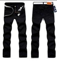 Wholesale High Quality Outdoor Designer Men s twill Trousers Black Jeans Skinny Straight Cotton Denim Overalls Men Solid Biker Jeans