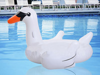 baby pool party - Baby Inflatable inch Pink Flamingo Swan Pool Floats Summer Kids Swimming Rings Seat Buoy Water Party Fun Toys Boat Kickboard
