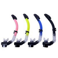 Wholesale 2016 New High Quality diving tube Silicone Full Dry Snorkel Breathing snorkel tube diving equipment Swimming Diving Snorkeling adult child