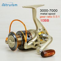 Wholesale Altruism cheap fishing spinning reel Saltwater surfcasting BB China deep sea metal spool fishing gear carp reel equipment