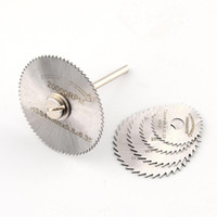 Wholesale 6Pcs Mini HSS Circular Saw Disc Blade Rotary Cutter For Metal Hand Tool Set New