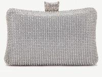 Wholesale New Designer Fashion Vintage Wedding Bridal Party Prom Women Crystal Rhinestone Gold Silver Black Evening Clutch Bag Handbags Purse Wallet