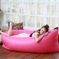 Wholesale Portable Waterproof Inflatable Sofa Air Sofa Lazy Sleeping Inflatable Bag For Camping Hiking Travel Beach lay Air Sleeping bag