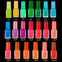 Wholesale 2016 LKE colors Hot Selling and New Brand series of Fluorescent Neon Luminous gel Nail Polish