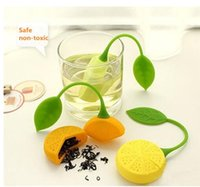 Wholesale 2016 hot Teapot Sweet lemonTea Infuser best Silicone materials lemon shape Tea Strainer drop
