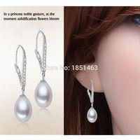 adorn freshwater pearl - Natural freshwater cultured pearl earrings long earrings adorn article sterling silver Cheap earring bride