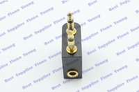airplane earphone - Glodplated mm male to mm female Stereo Earphone Converter Adapter for Airplane On Plane Connector